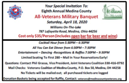 Eighth Annual Medina County All-Veterans Military Banquet
