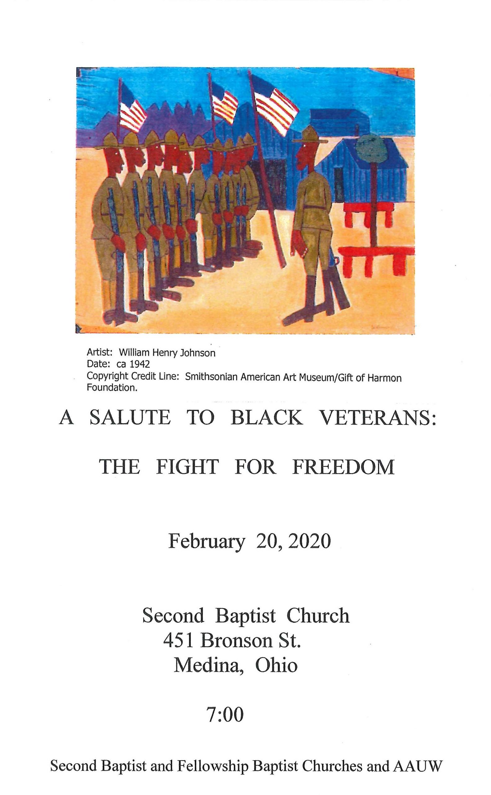 A SALUTE TO AFRICAN AMERICAN VETERANS OF MEDINA COUNTY IN COMMEMORATION OF BLACK HISTORY MONTH